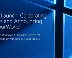 Microsoft представила страницу, посвящённую запуску Windows 10