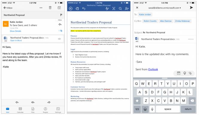 Microsoft внесла крупные изменения в Outlook для iOS