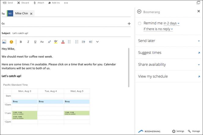 Outlook получила интеграцию Uber, Evernote, PayPal и Boomerang