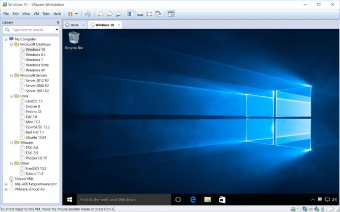 VMware Workstation 12 теперь официально поддерживает Windows 10