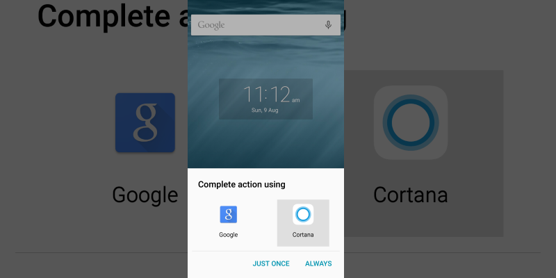 Пользователи Android смогут выбрать Cortana персональным помощником по умолчанию