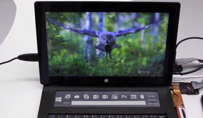 Microsoft разрабатывает новую клавиатуру-чехол для Surface с экраном их жидких чернил
