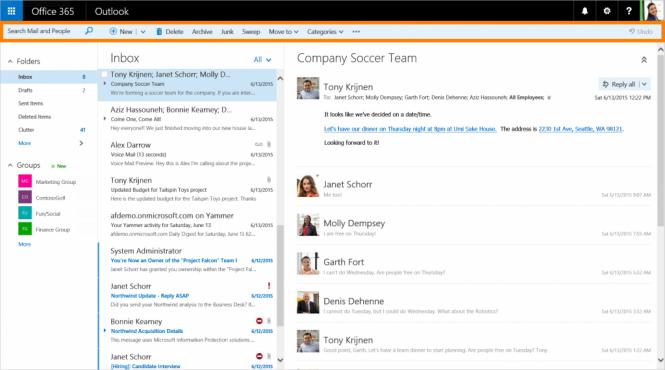 Outlook для Office 365 получил ряд нововведений