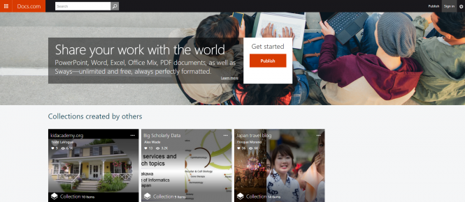 Microsoft открыла публичный доступ к службе Docs.com