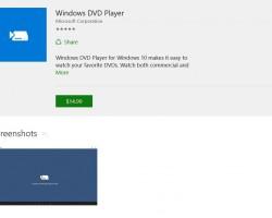 Компания Microsoft выпустила приложение Windows DVD Player