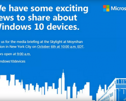 Microsoft покажет новые устройства 6 октября
