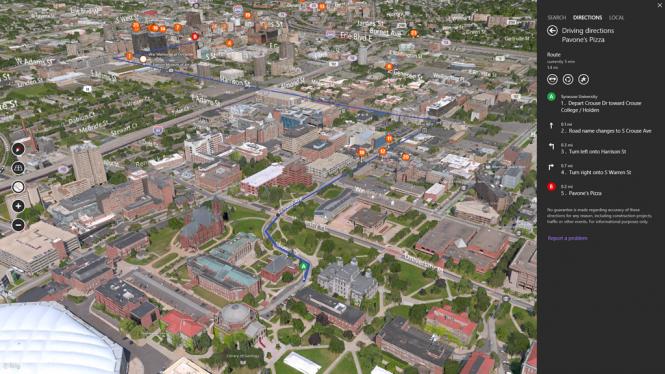 Microsoft обновила Bing Maps Preview