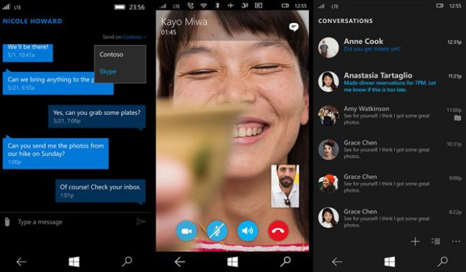 Пользователи Windows 10 Mobile получили доступ к бета-версии Skype Messaging