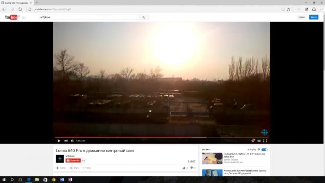 Браузер Edge позволяет настраивать размер проигрывателя YouTube