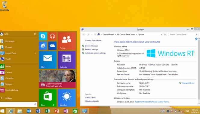 Windows 8.1 RT получила финальное крупное обновление