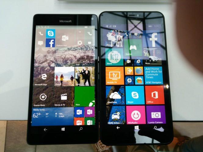 Сравнение размеров Lumia 950 XL с Lumia 920, Lumia 640, 640 XL и Lumia 1520
