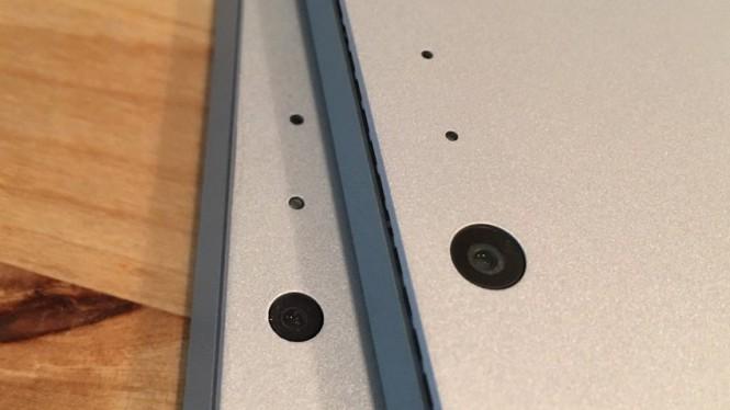 Вверху - камера Surface Pro 4, внизу - камера Surface Pro 3