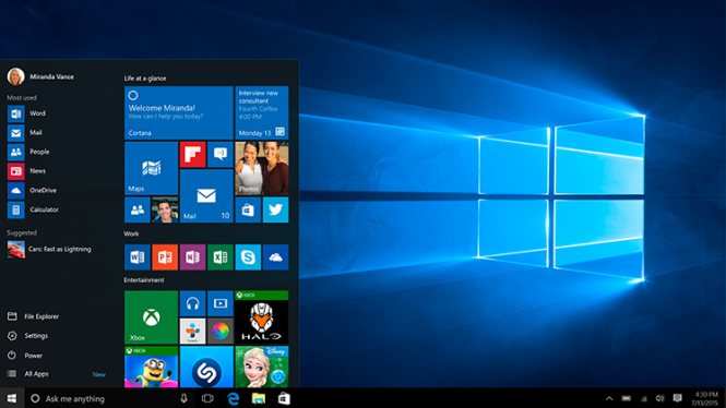 Вышла Windows 10 Insider Preview 10576