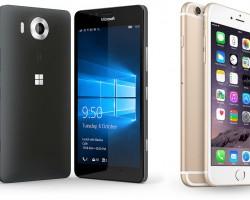 Битва флагманов: Lumia 950 против iPhone 6s