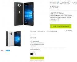 В Канаде раскуплены все Microsoft Lumia 950 XL и Lumia 950