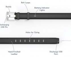 ION Belt — ремень с встроенным аккумулятором