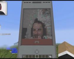 ВMinecraft создан смартфон, скоторого можно совершать видеозвонки и выходить в интернет