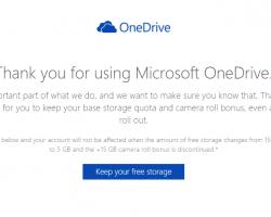 Как сохранить бонусные гигабайты в OneDrive?