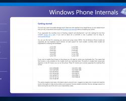 Программа поустановке кастомных прошивок Windows Phone Internals получила обновление