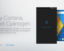 Cortana теперь встроена в Cyanogen OS