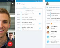 На Android вышло приложение Skype for Business