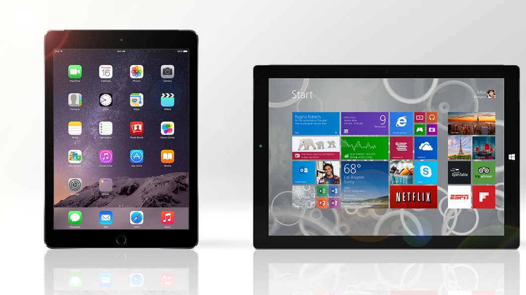 iPad Air 2 и Microsoft Surface Pro 3