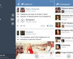 ВКонтакте готовит универсальное приложение для Windows10