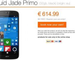 Acer принимает предзаказы наJade Primo