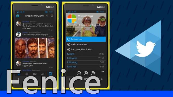 Twitter-клиент Fenice for Twitter для Windows 10 получил поддержку Windows Hello