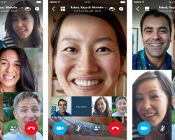 Вверсиях Skype наAndroid иiOS появились групповые видеочаты