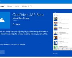 Вмагазине Windows появилась универсальная версия приложения OneDrive