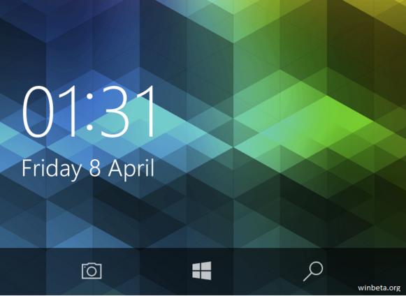 В Windows 10 Mobile Redstone появится кнопка камеры на экране блокировки