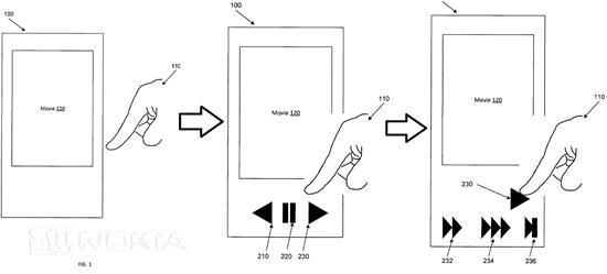 Новый патент от Microsoft для 3D Touch - многоступенчатый пользовательский интерфейс
