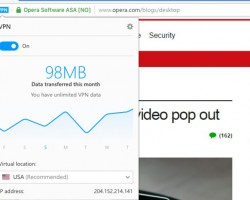 Вбраузере Opera появился бесплатный ибезлимитный VPN