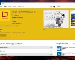 НаWindows 10появится новая версия приложения Fresh Paint