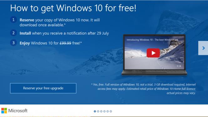 Через 100 дней закончится программа бесплатного обновления до Windows 10
