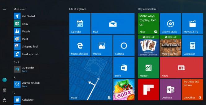 На следующей неделе участники Windows Insider получат новое меню «Пуск»