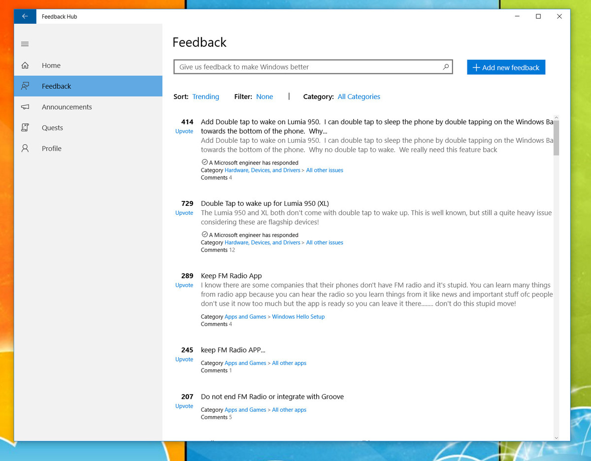 feedback-hub-windows-10