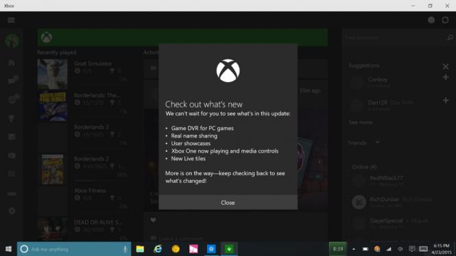 В приложении Xbox Beta появилась секция игр для ПК