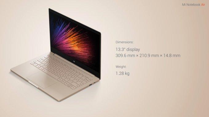 Китайский ответ Apple: Xiaomi MiNotebook Air