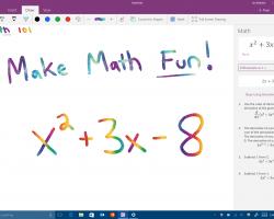 Windows Ink научится решать математические уравнения