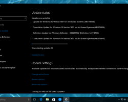 Выпущено накопительное обновление для Windows 10 Anniversary Update