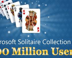 Microsoft Solitaire Collection набрала 100 миллионов пользователей