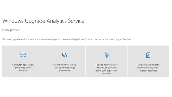 Windows Upgrade Analytics Service
