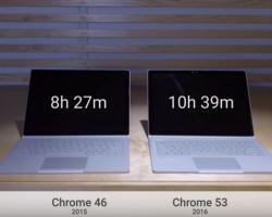 Google использовал Surface Book, чтобы показать, насколько лучше стал браузер Chrome