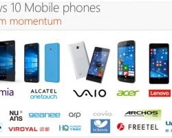 Microsoft непредаст производителей смартфонов наWindows10 Mobile