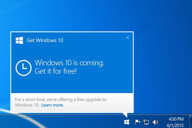 Microsoft удаляет Get Windows 10 из устройств на Windows 7 и 8.1