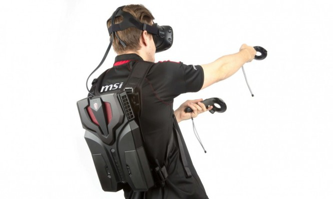 MSI представила носимый компьютер VR One с оптимизацией для HTC Vive