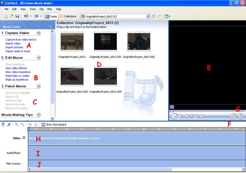 How do I time captions or subtitles in Windows Movie