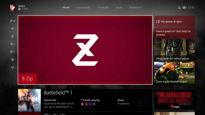 8zip на XboxOne